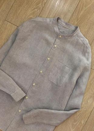 Рубашка 100% лен marks&spencer