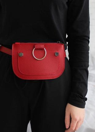 Красная молодёжная женская сумка на пояс клатч .маленькая сумка на пояс.цвета .варианты
