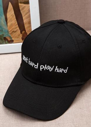13-39 бейсболка work hard play hard головные уборы кепка панамка шапка