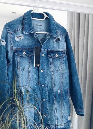 Джинсова куртка (джинсовка) подовжена