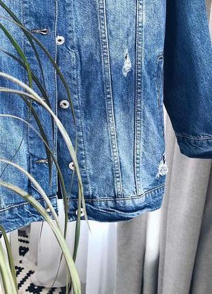 Джинсова куртка (джинсовка) подовжена2 фото