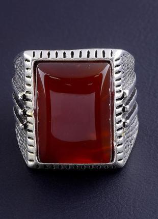 Кольцо сердолик 0378600