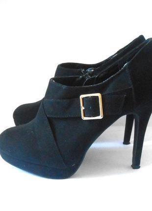 Фирменные ботильоны ботинки new look, р.39 код b3903