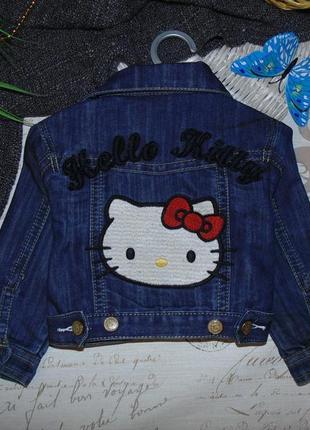 Модная джинсовая куртка пиджак hello kitty.мега выбор обуви и одежды