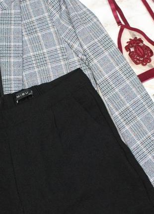Обнова! шорты высокая талия городские кежуал черные свободные3 фото