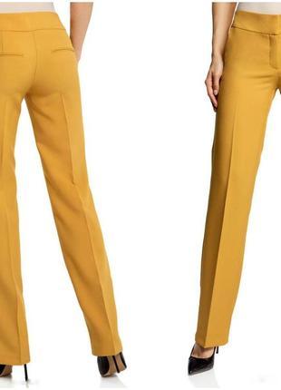 Трендовые брюки горчичные oodji