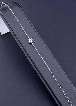 Браслет серебро(925) 6x6мм. 0717650