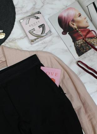 Обнова! брюки штаны слим зауженные укороченные высокая талия качество черные h&m4 фото