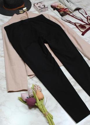 Обнова! брюки штаны слим зауженные укороченные высокая талия качество черные h&m8 фото