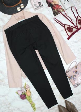 Обнова! брюки штаны слим зауженные укороченные высокая талия качество черные h&m6 фото