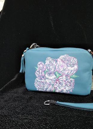 Маленькая сумочка с пионами