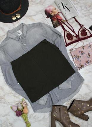 Обнова! юбка мини с воланом рюшей хаки оливка в рубчик zara5 фото