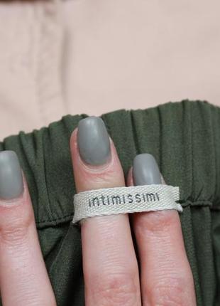 Обнова! брюки штаны кежуал хаки оливка зауженные высокая талия5 фото
