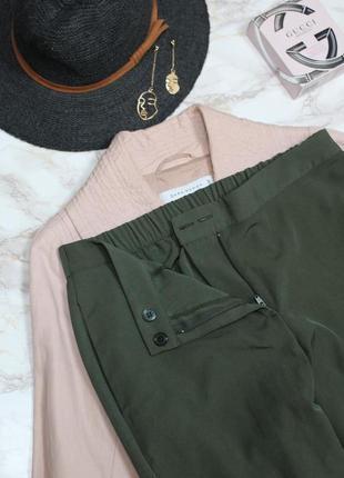 Обнова! брюки штаны кежуал хаки оливка зауженные высокая талия4 фото