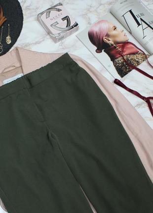 Обнова! брюки штаны кежуал хаки оливка зауженные высокая талия3 фото