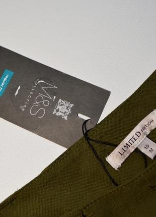 Премиальные широкие брюки-палаццо хаки4 фото