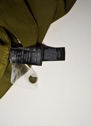 Премиальные широкие брюки-палаццо хаки7 фото