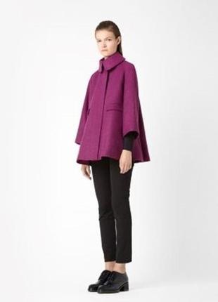 Обнова! пальто пурпур шерсть альпака cos качество люкс