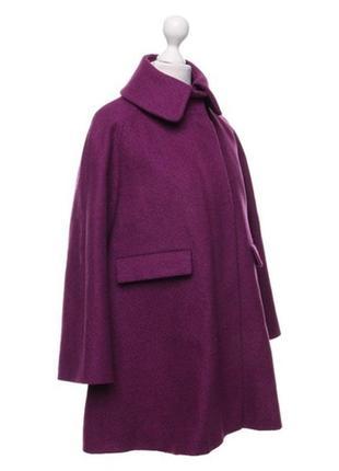 Обнова! пальто пурпур шерсть альпака cos качество люкс3 фото