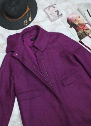 Обнова! пальто пурпур шерсть альпака cos качество люкс7 фото
