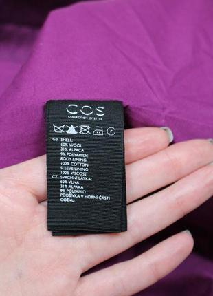 Обнова! пальто пурпур шерсть альпака cos качество люкс10 фото
