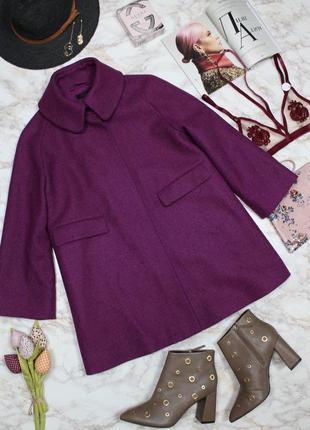 Обнова! пальто пурпур шерсть альпака cos качество люкс5 фото