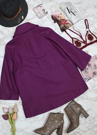 Обнова! пальто пурпур шерсть альпака cos качество люкс9 фото