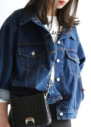Обнова! джинсовка джинсовый пиджак куртка оверсайз унисекс классика качество коттон люкс