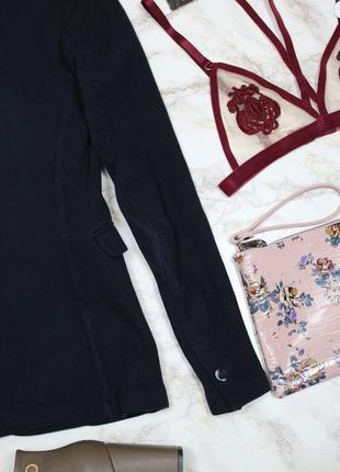 Обнова! блейзер удлиненный пиджак трикотажный глубокий синий бренд качество massimo dutti9 фото