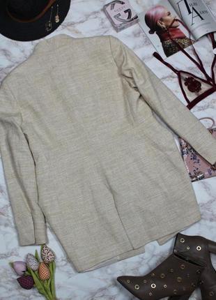 Обнова! блейзер пиджак удлиненный пальто натуральный коттон качество люкс бренд zara6 фото
