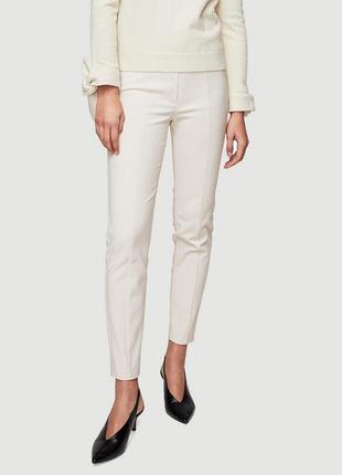 Обнова! брюки штаны слим скинни укороченные беж нюд качество бренд mango