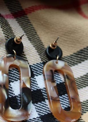 Обнова! серьги сережки объёмные кофе с молоком4 фото