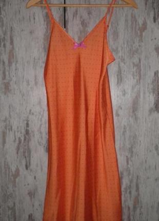 Удобная нежная ночнушка ночная рубашка c&a lingerie на брительках размер s