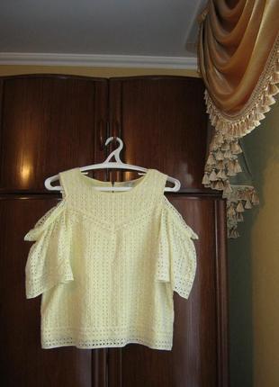 Модная блуза next, 100% хлопок-прошва, размер 16/44