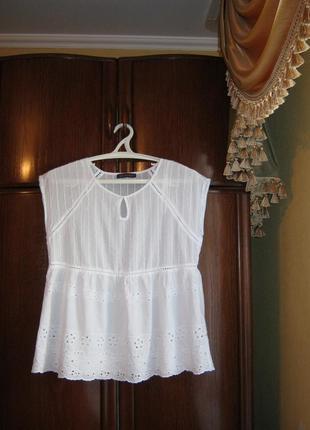Блуза marks&spencer, 100% хлопок, размер 14/429 фото