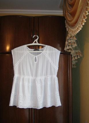 Блуза marks&spencer, 100% хлопок, размер 14/421 фото