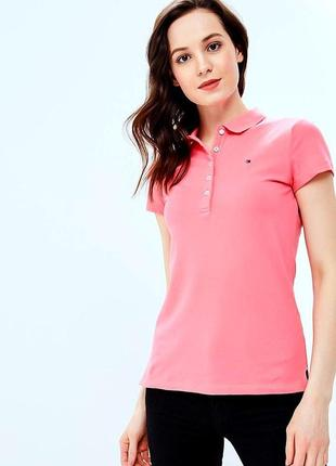 Поло женское tommy hilfiger розовое
