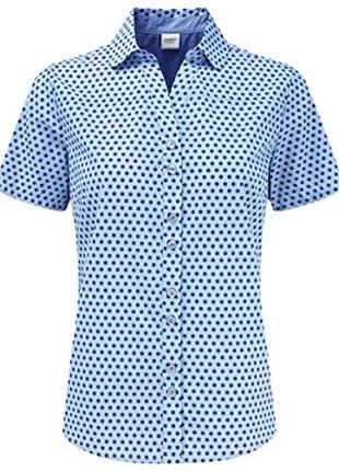Рубашка в горошек из натуральной ткани рр 22