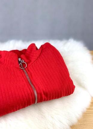 Реглан в рубчик new look красного цвета