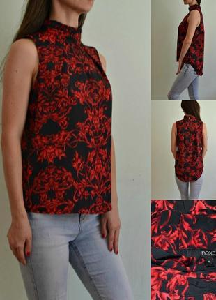 Легкая блуза с удлиненной спинкой