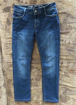 Женские синие классические джинсы