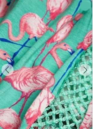 Яркий стильный ромпер комбинезон песочник в принт фламинго рр 12/14/166 фото