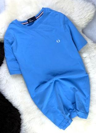 Мужская футболка fred perry голубая