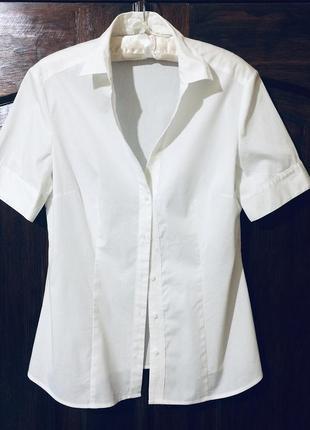 Женская брендовая белая рубашка классическая