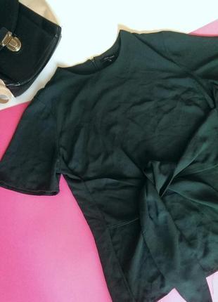 Стильна смарагдова блуза з зав'язкою-бантом від new look, на р. l/xl