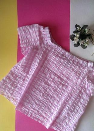 Блуза в клітинку з опущеними/відкритими плечима від nl (generation), на р. s