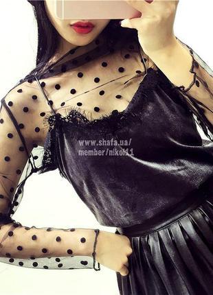 Хит! эффектная прозрачная кофточка 🔥 сетка гольф сетка водолазка блузка блуза4 фото