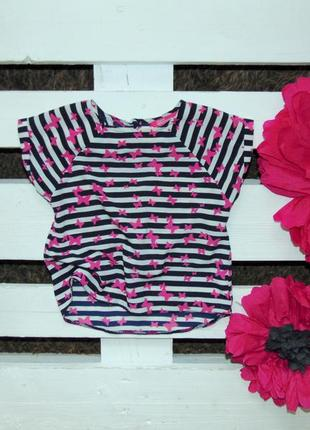 Стильна блуза вільного крою в метелики фірми yd ріст 122