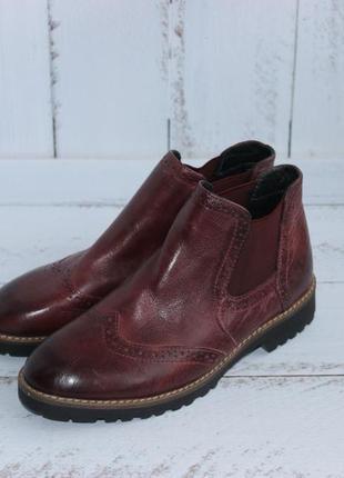 5th avenue кожаные ботинки, челси утепленные