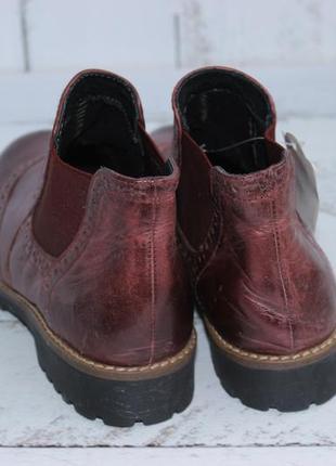 5th avenue кожаные ботинки, челси утепленные3 фото